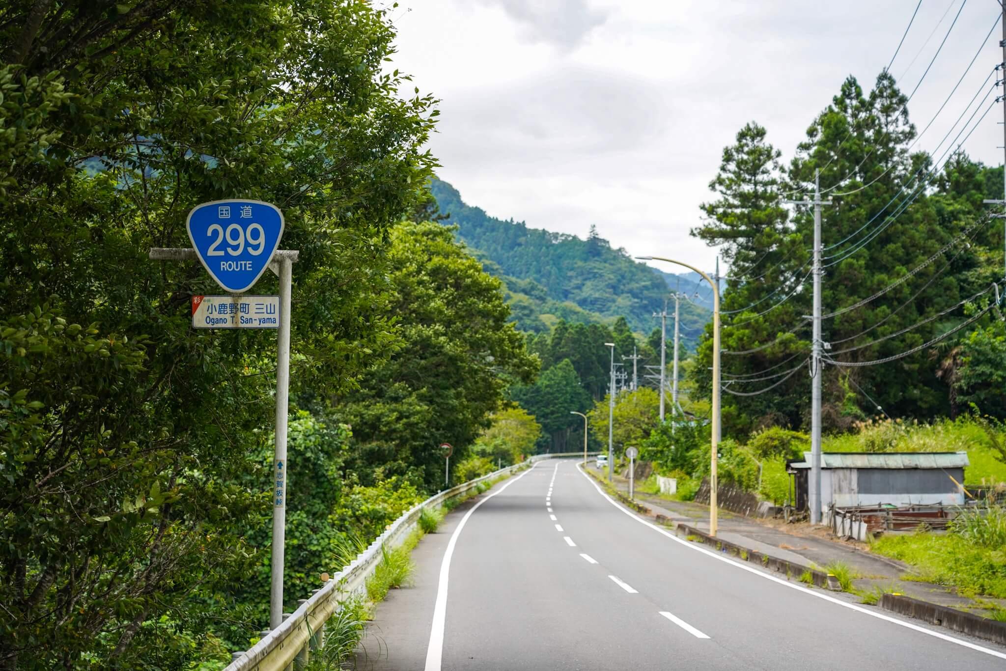 国道299号 埼玉県子鹿野町