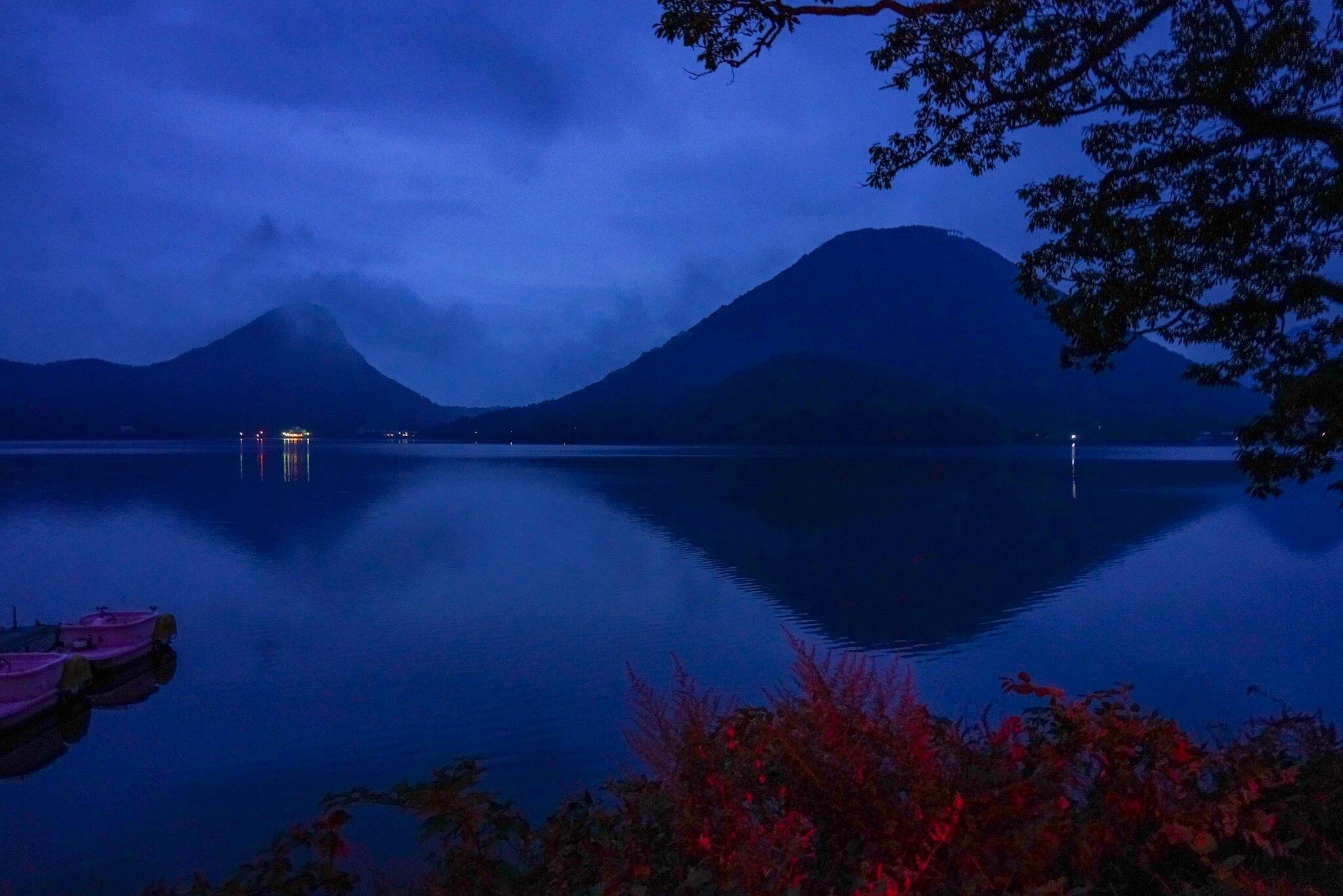 榛名山と榛名湖