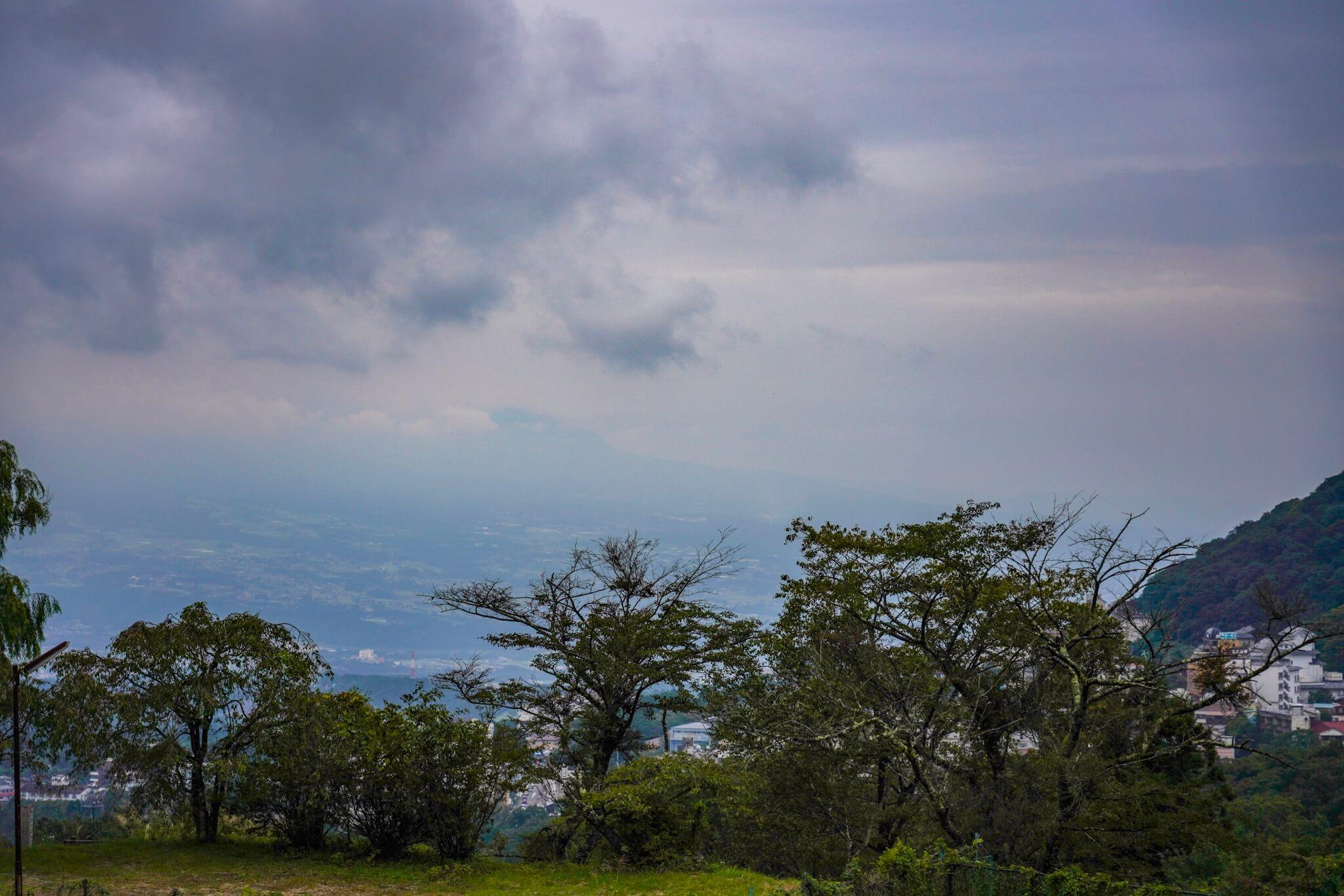 榛名山 カーブNo.9から8の間から見える景色