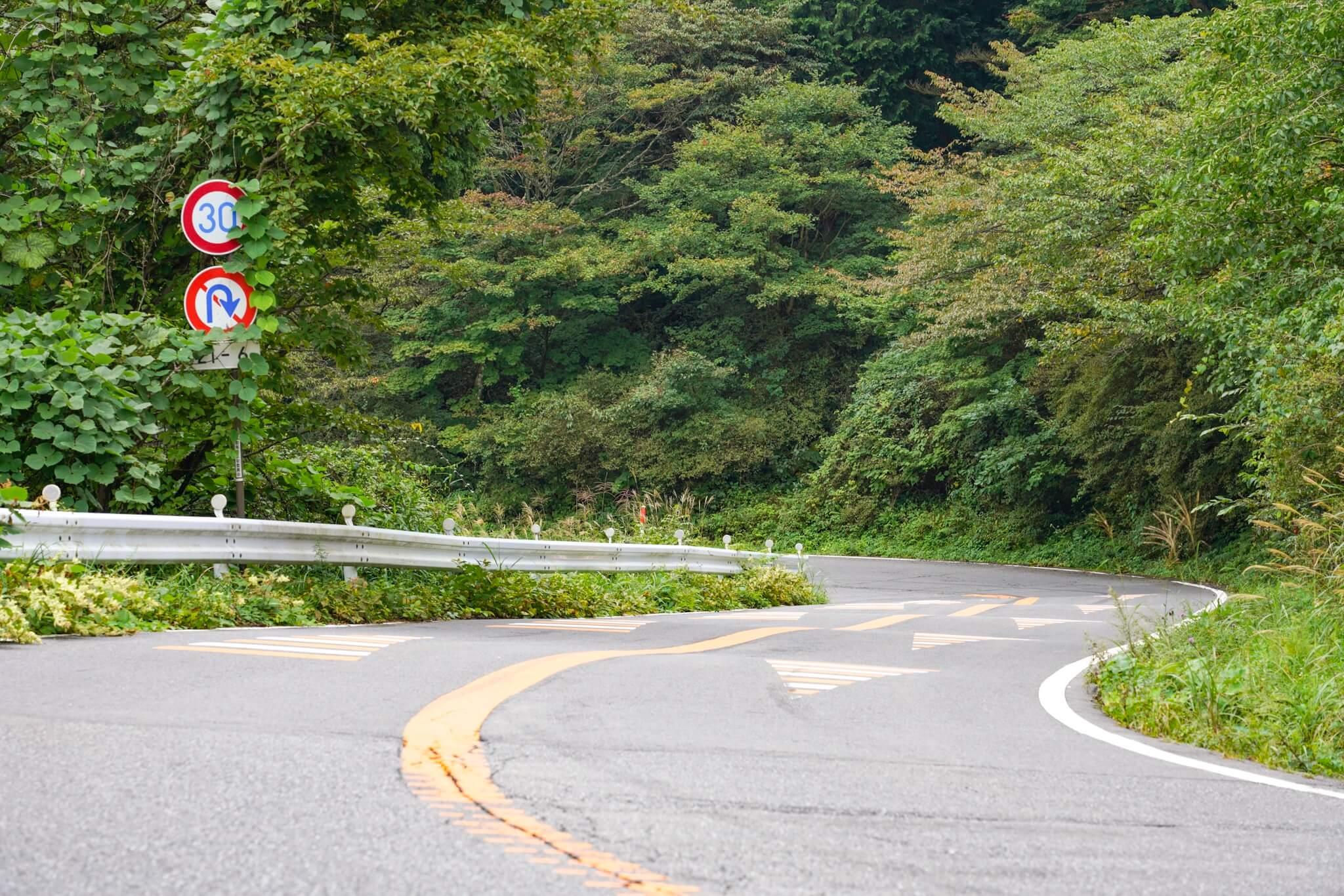 榛名山 速度抑制の路面凹凸