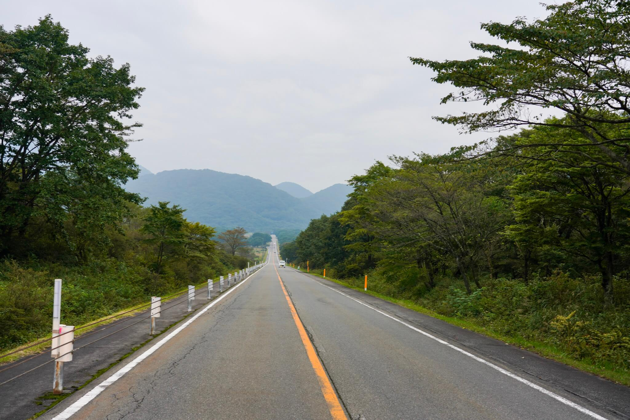 榛名山・榛名湖メロディライン・直線道路