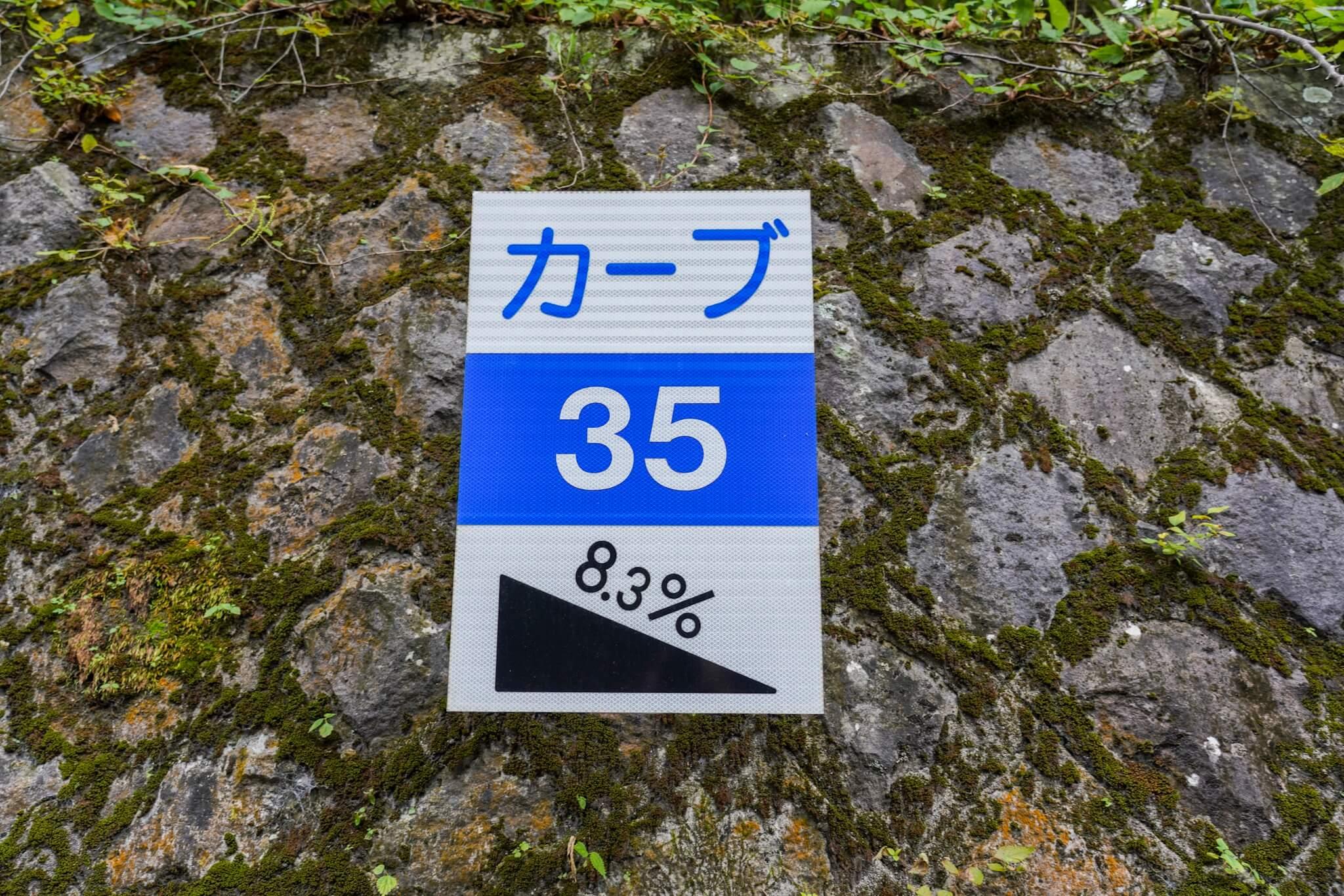 赤城山 峠 カーブNo.35