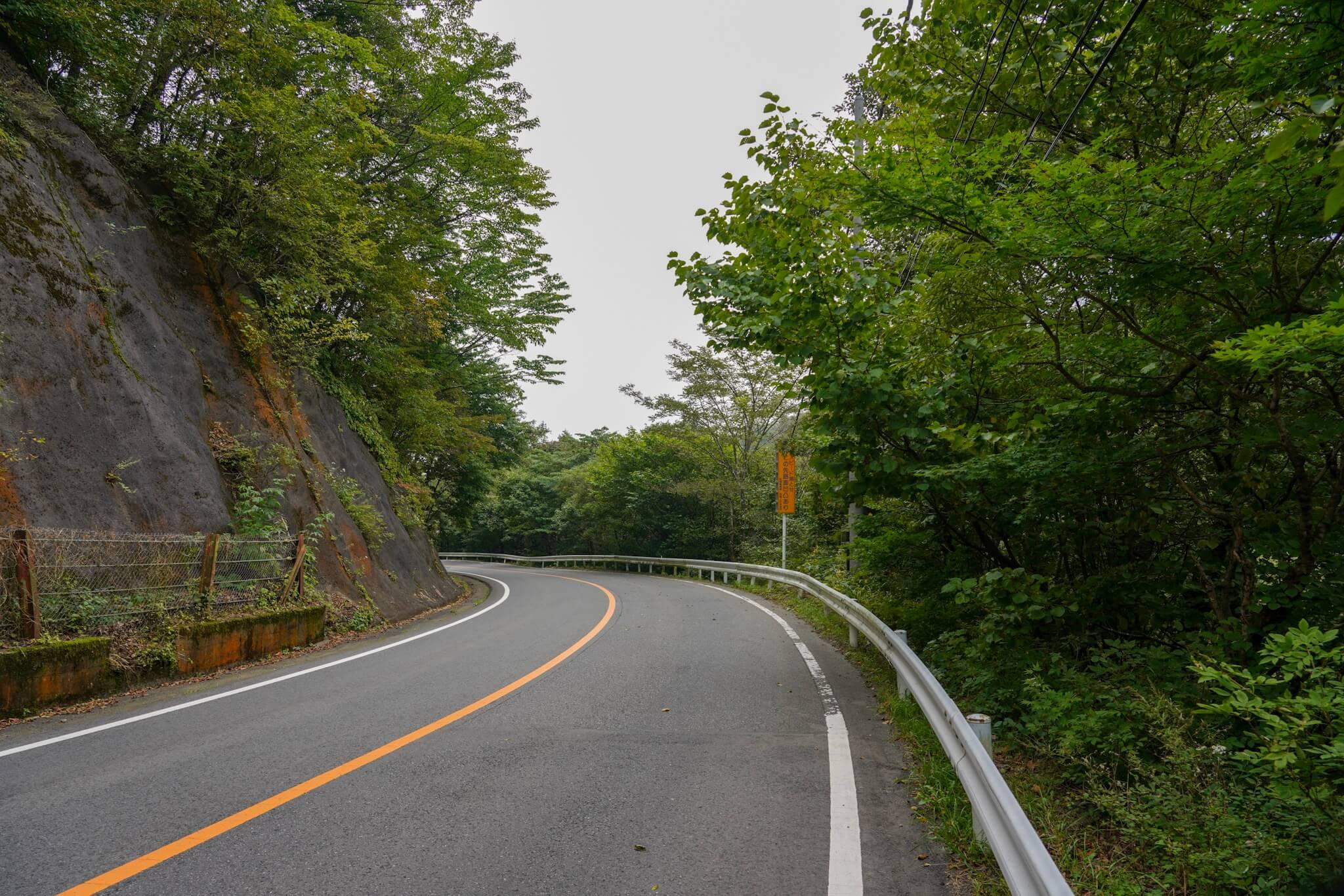 赤城山 峠 カーブNo.48