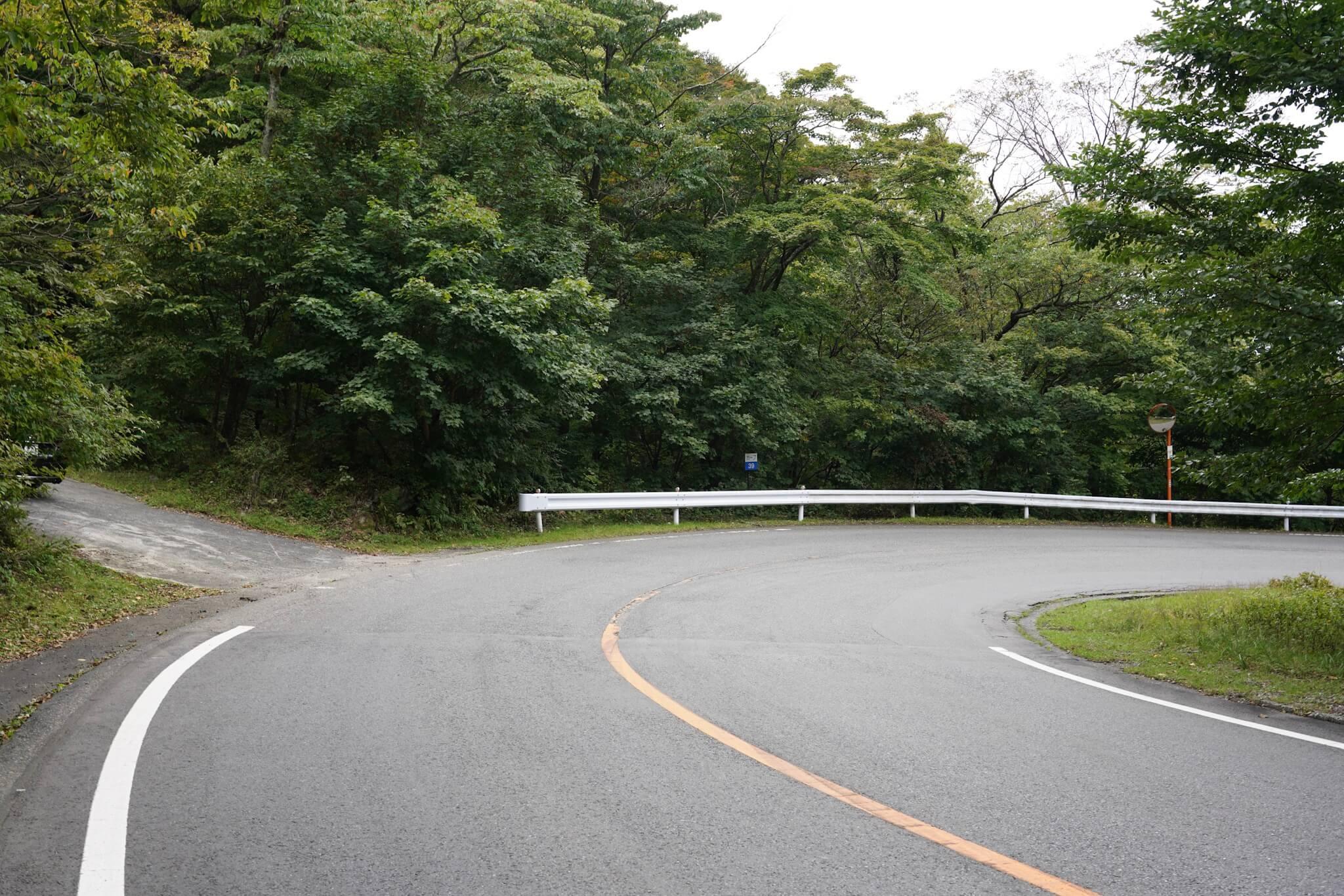 赤城山 峠 カーブNo.39