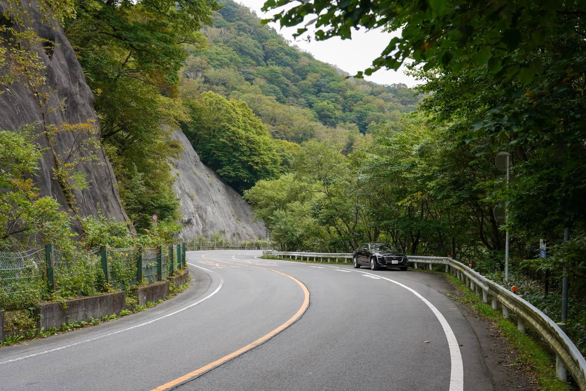 赤城山 峠 カーブNo.52