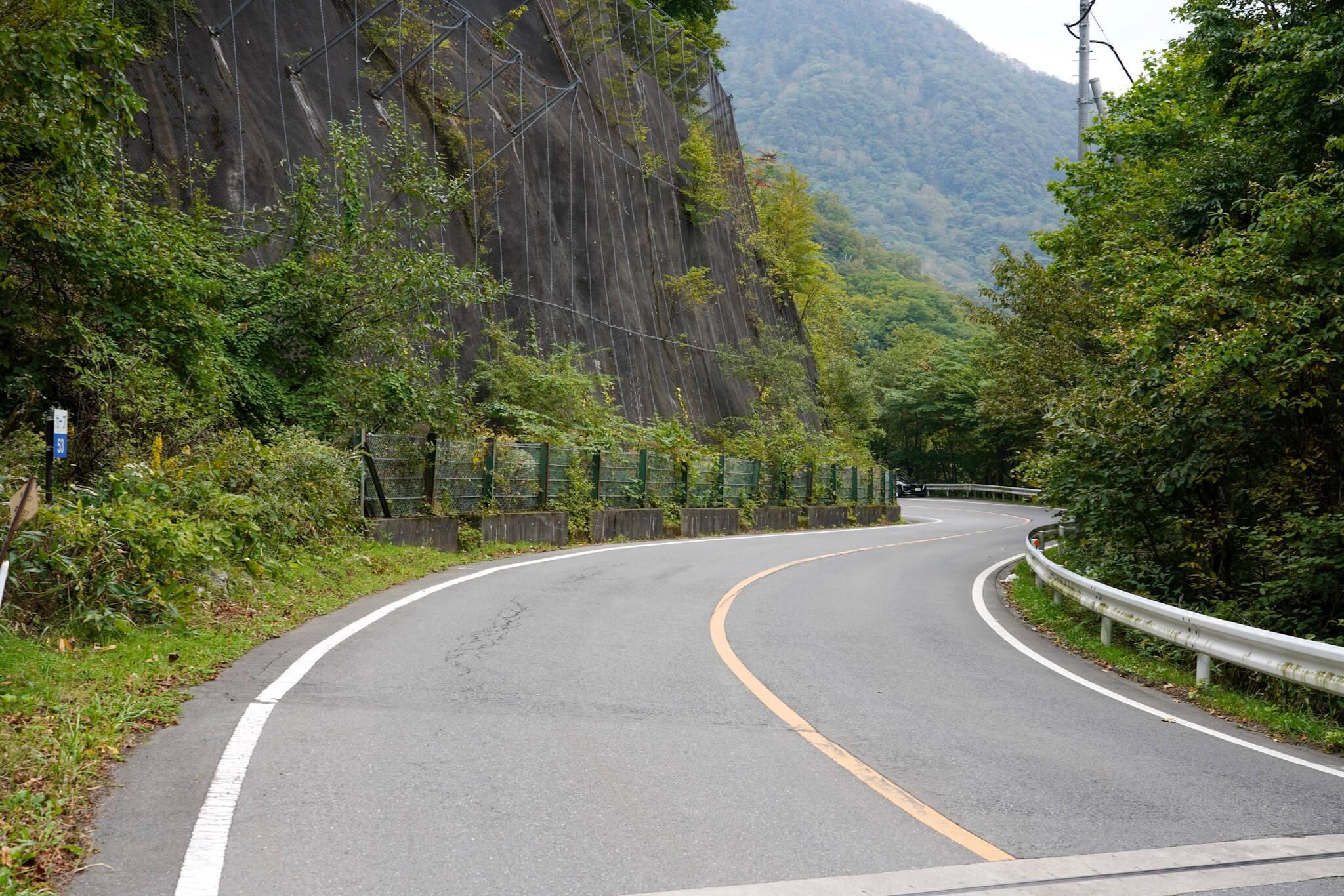 赤城山 峠 カーブNo.53