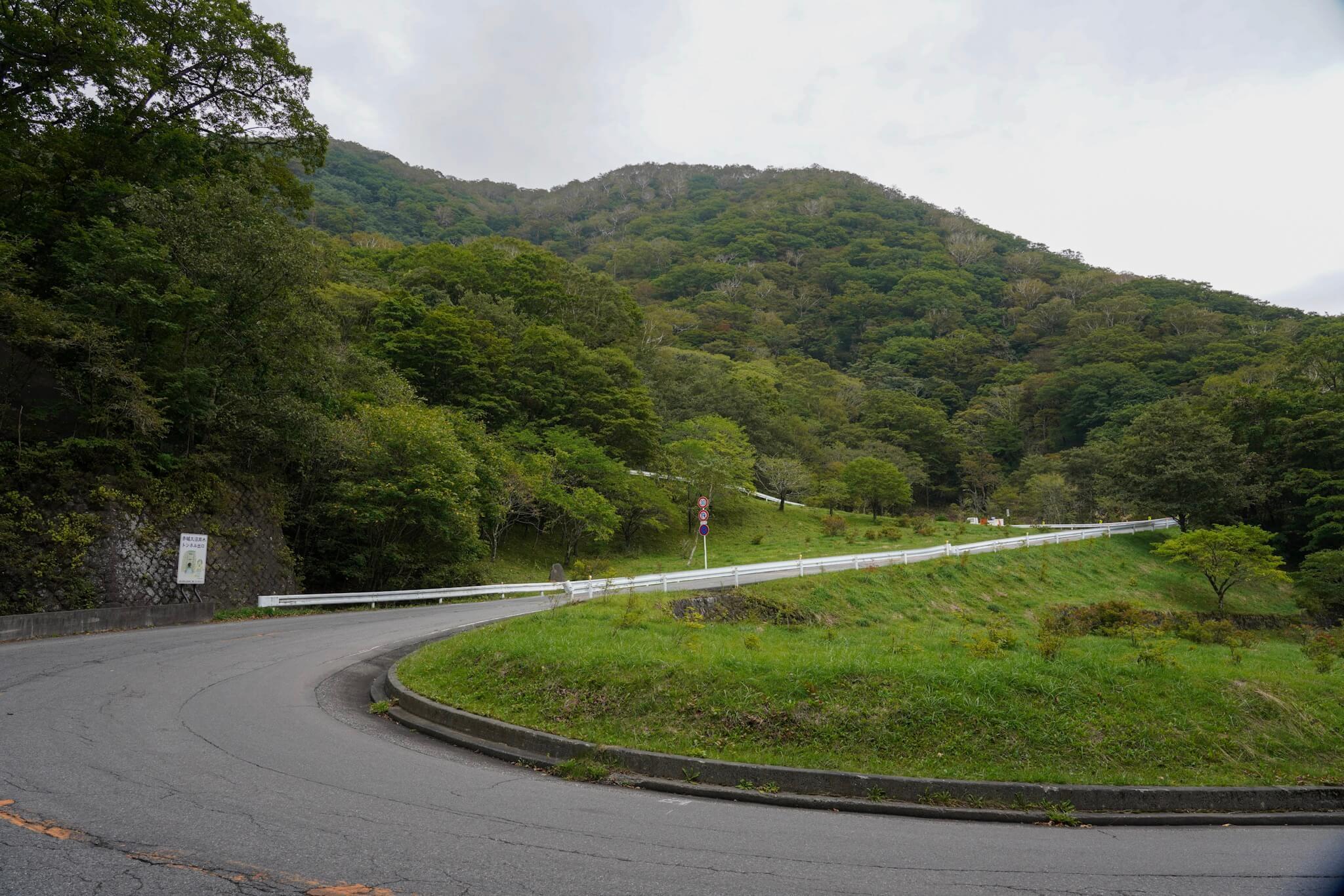 赤城山 峠 カーブNo.54