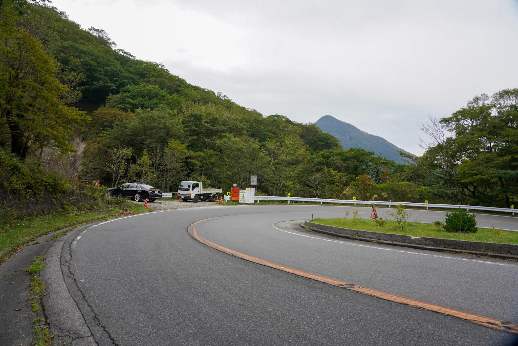 赤城山 峠 カーブNo.56
