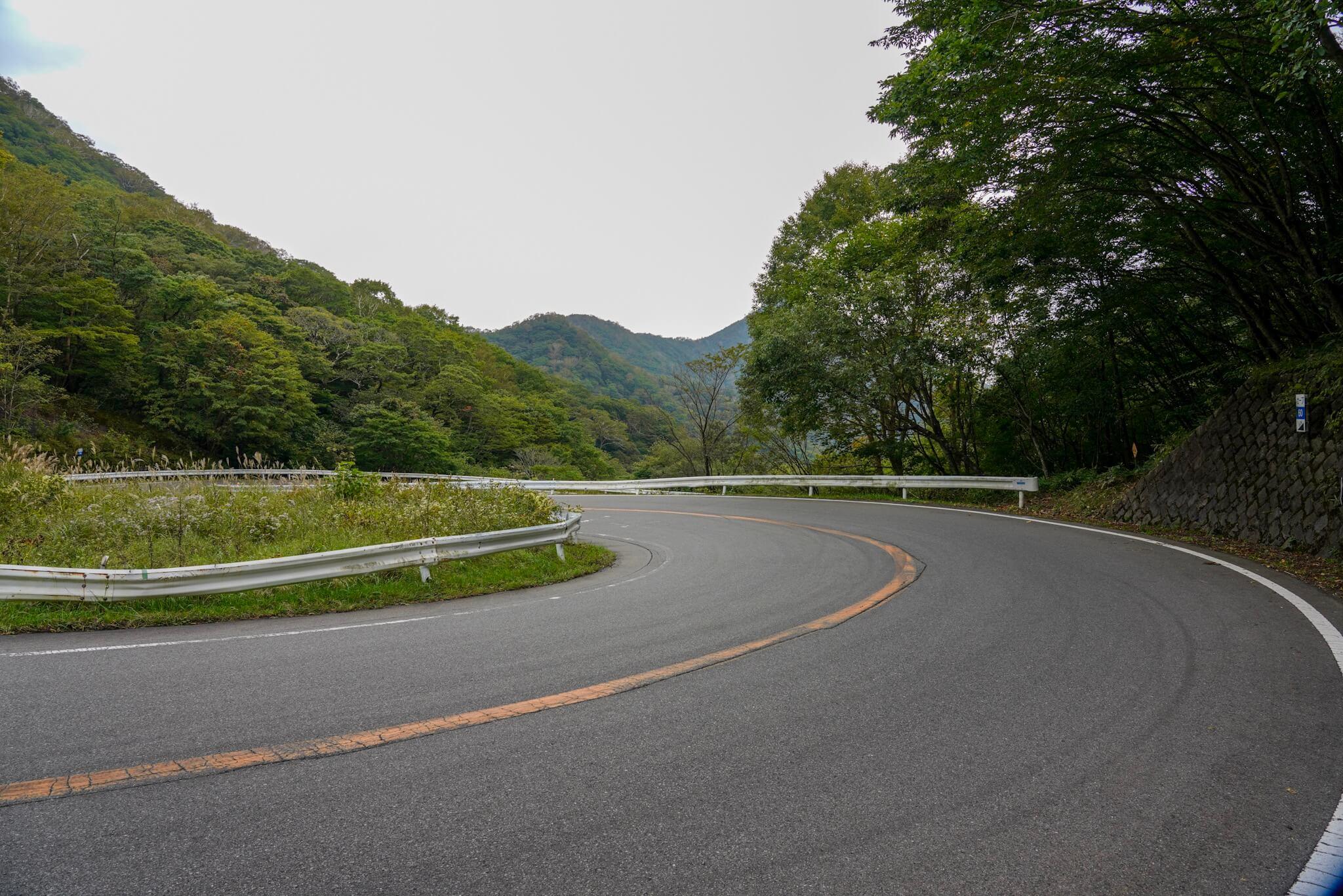 赤城山 峠 カーブNo.60