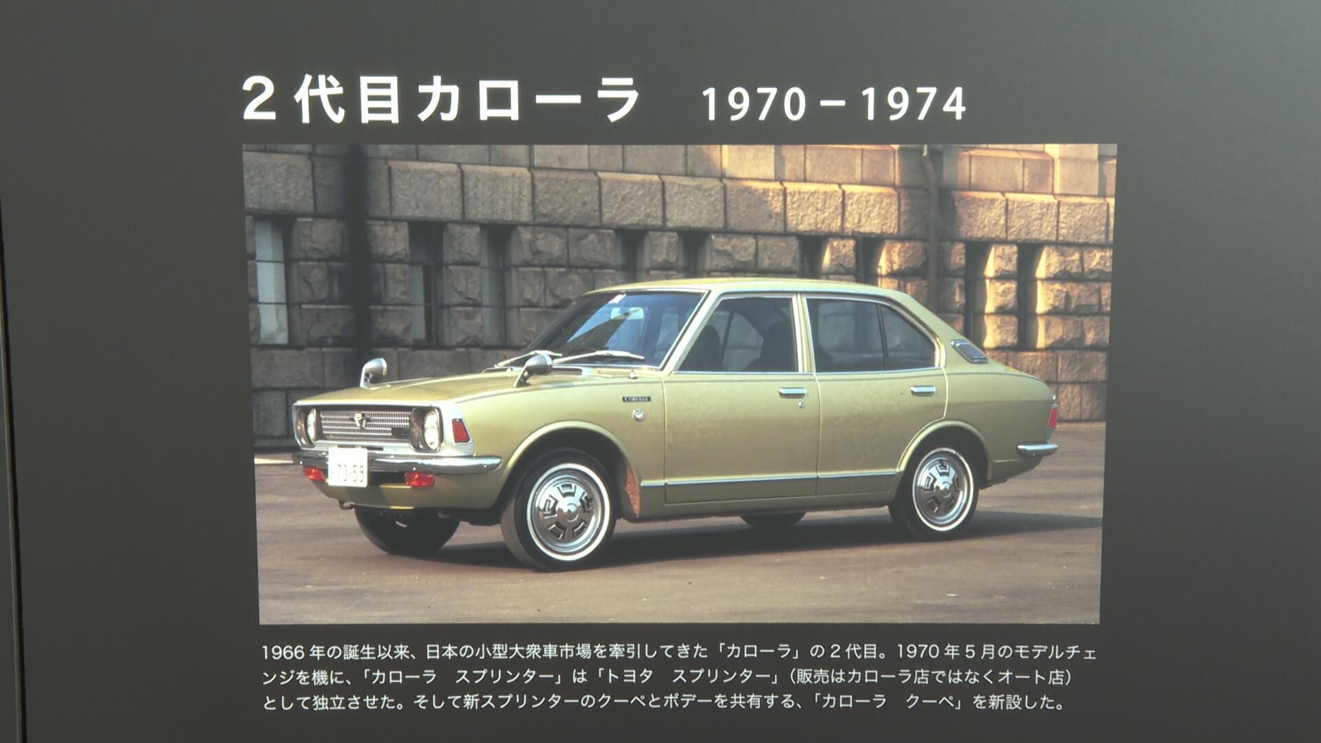 トヨタ 2代目カローラ(1970年~1973年)