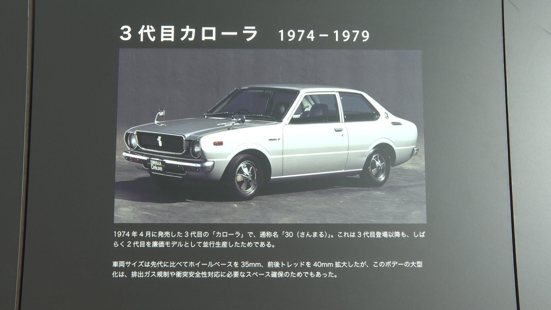 トヨタ 3代目カローラ(1974年~1978年)