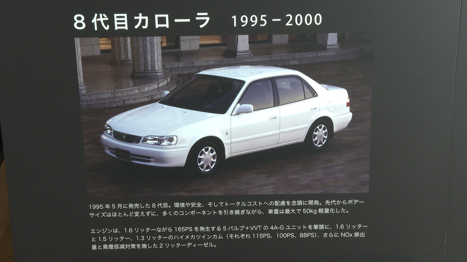 トヨタ 8代目カローラ(1995年~1999年)